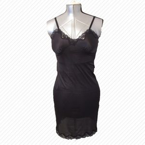 Black Slip with Lace Detail at Neckline